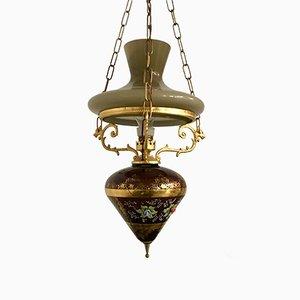 Lampe à Suspension Vintage Peint à la Main, Italie, 1950s