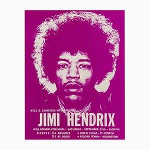 Folleto original de concierto de Jimi Hendrix en Estados Unidos vintage, 1969