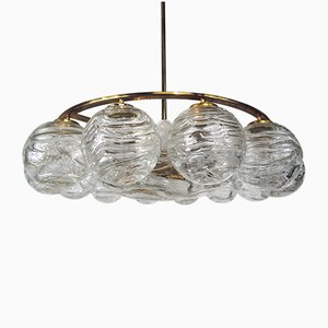 Crystal Glass Chandelier from Doria Leuchten, 1970s