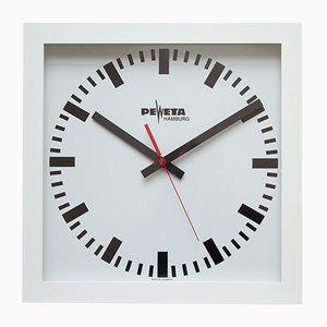 Grande Horloge Murale Industrielle de Peweta, 1980s