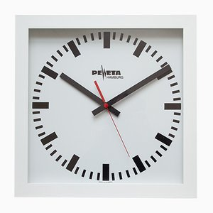 Large Industrial Wall Clock from Peweta, 1980s