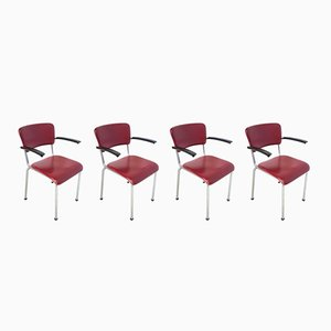 Stackable Chairs by Willem Hendrik Gispen for Gispen, 1950s, Set of 4