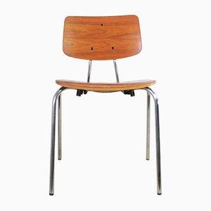 Danish Teak & Chromed Steel Dining Chair from Duba, 1972