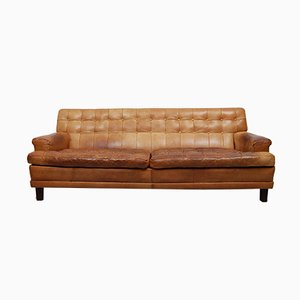 Buffalo Leather Merkur Sofa by Arne Norell, 1960s