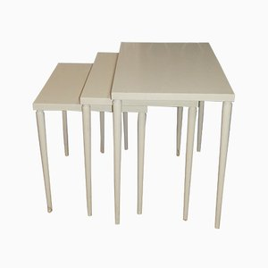 Tables Gigognes Blanches, 1970s