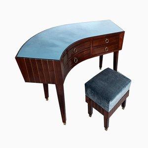Mid-Century Schreibtisch mit Hocker von Gianni Vigorelli
