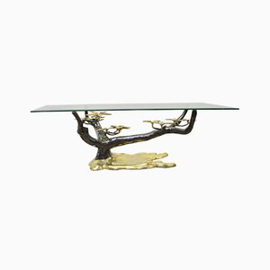 Bonsai Tree Brass Coffee Table by Willy Daro, 1970s