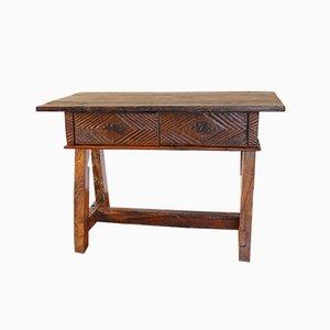 Mesa rústica antigua de madera