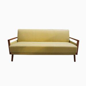Gelbes Mid-Century Sofa, 1960er