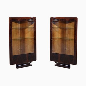 Vetrine Art Deco, set di 2