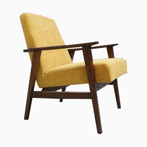 Gelber Mid-Century Sessel, 1960er