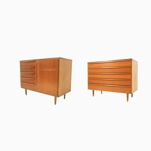 Vintage Chest and Cabinet, 1960s, Set of 2