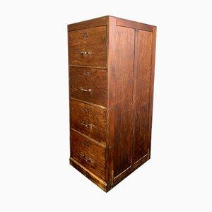 Archivador vintage grande de madera