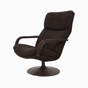 Vintage Dutch Swivel Lounge Chair by Geoffrey Harcourt for Artifort
