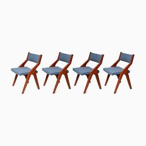 Dänische Vintage Esszimmerstühle aus Teak, 1965, 4er Set