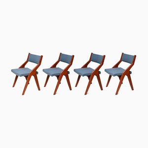 Vintage Danish Teak Dining Chairs, 1965, Set of 4