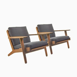 GE290 Easy Chairs by Hans J. Wegner for Getama, 1960s, Set of 2