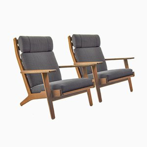 GE290 Lounge Chairs by Hans J. Wegner for Getama, 1960s, Set of 2