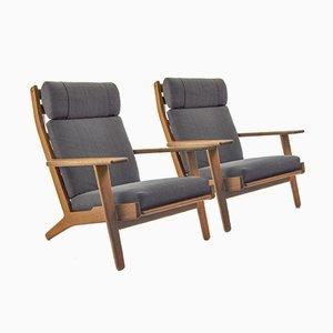 GE290 Sessel von Hans J. Wegner für Getama, 1960er, 2er Set