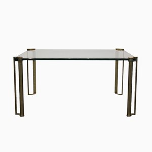 Vintage Brass & Glass Coffee Table by Peter Ghyczy