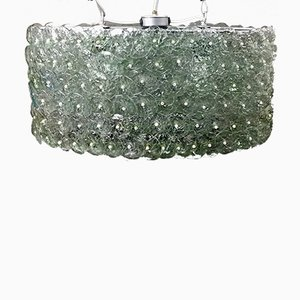 Modernist Crystal Disc Lamp from L'Artigiani, 1960s