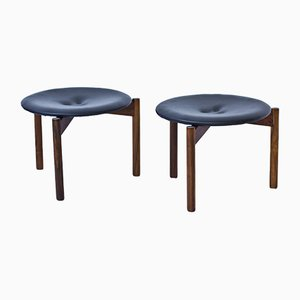 Vintage Stools by Uno & Östen Kristiansson for Luxus, 1960s, Set of 2