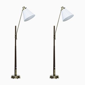 Floor Lamps by Hans Bergström for Ateljé Lyktan, 1940s, Set of 2