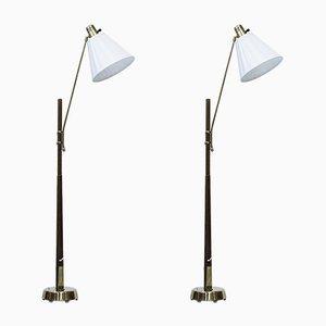 Lámparas de pie de Hans Bergström para Ateljé Lyktan, años 40. Juego de 2