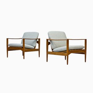 Easy Chairs by Illum Wikkelsø for Niels Eilersen, 1960s, Set of 2