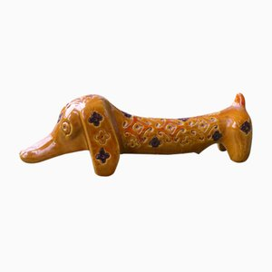 Vintage Ceramic Dachshund by Aldo Londi for Bitossi