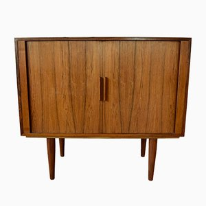 Rosewood Record Player & Bar Cabinet by Kai Kristiansen for FM Møbler, 1960s