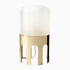Tplg#1 Tischlampe aus poliertem Messing von Daythings