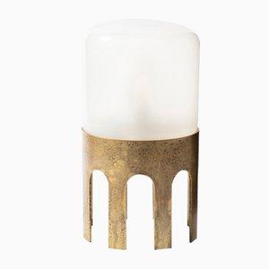 Tplg#1 Tischlampe aus antiquiertem Messing von Daythings