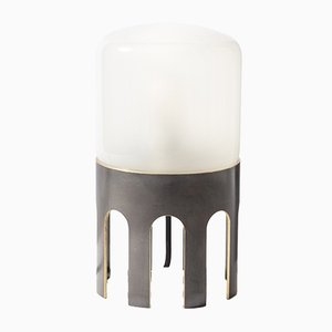 Lampe de Bureau Tplg#1 en Laiton Patiné Noir de Daythings