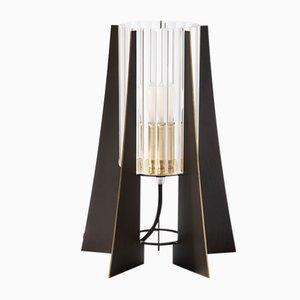 Lampada da tavolo Tplg # 2 in ottone nero brunito di Daythings