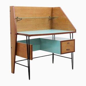 Italienischer Mid-Century Schreibtisch mit Resopalplatte