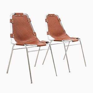 Mid-Century Les Arcs Chairs by Charlotte Perriand, Set of 2