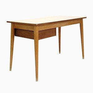 Schreibtisch für Studierende aus hellem Holz & Laminat, 1950er