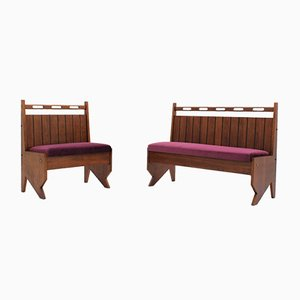 Mid-Century Italian Benches from Turri, Set of 2
