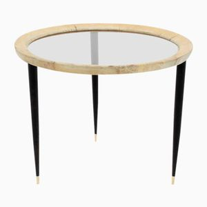 Mid-Century Round Italian Coffee Table by Aldo Tura