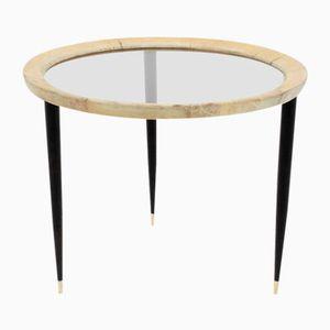 Tavolino da caffè Mid-Century rotondo di Aldo Tura