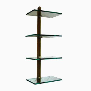 Brass Pioneer Shelving Unit by Peter Ghyczy, 1980s