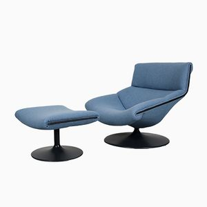 F520 Lounge Chair and Matching Ottoman by Geoffrey Harcourt for Artifort, 1960s