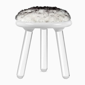 Tabouret White Bear Illusion de Covet Paris