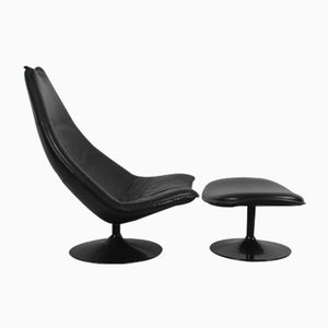 F585 Lounge Chair & Ottoman by Geoffrey Harcourt for Artifort, 1967