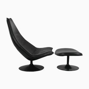 F585 Sessel und Fußhocker von Geoffrey Harcourt für Artifort, 1967