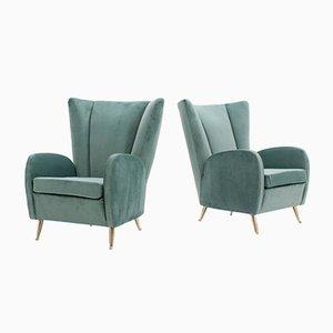 Italienische Mid-Century Sessel von ISA Bergamo, 1950er, 2er Set