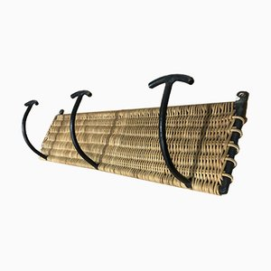 Vintage Wicker Coat Rack by Mathieu Matégot