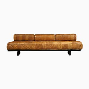 Patchwork Leather DS 80 Daybed from de Sede, 1970s