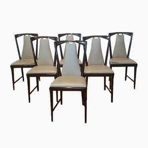 Chairs by Osvaldo Borsani, 1950s, Set of 6
